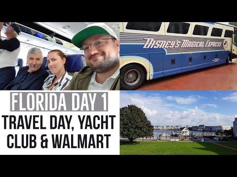 Travel to Orlando, Disney's Yacht Club and Walmart - Florida, Walt Disney World Orlando 2017 Day 1
