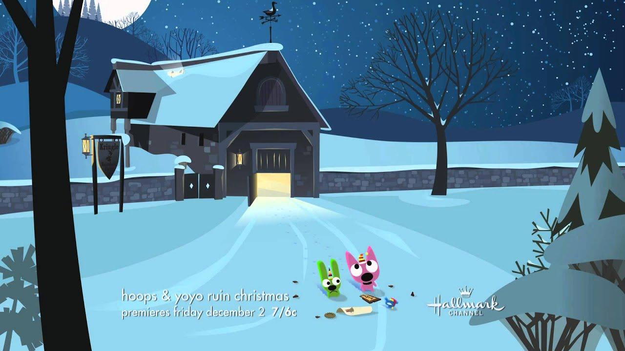 Hoops And Yoyo Save Christmas 2021 Hallmark Channel Hoops Yoyo Ruin Christmas Premiere Promo Youtube