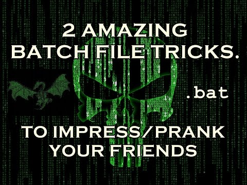 2 Amazing Batch File Tricks to prank ur friends | Explained in [Hindi].