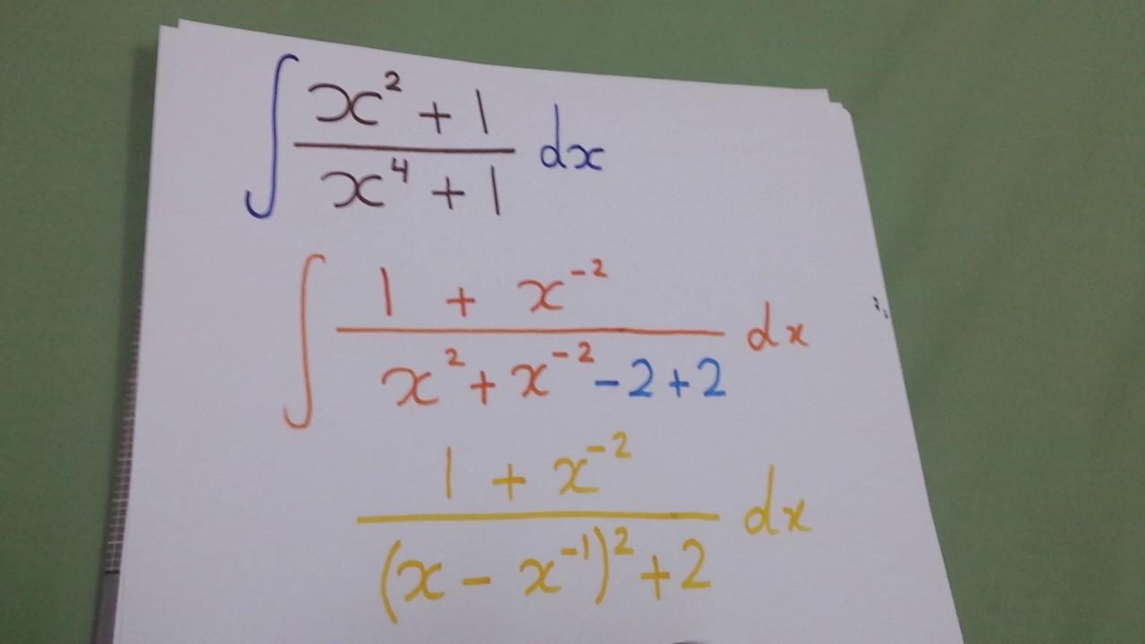 Integral Of X2 1 X4
