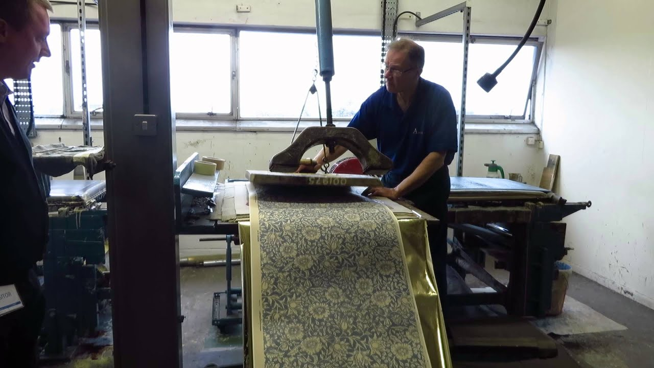 William Morris Wood Block Design Printed Using Traditional Methods By Dave Thornton You
