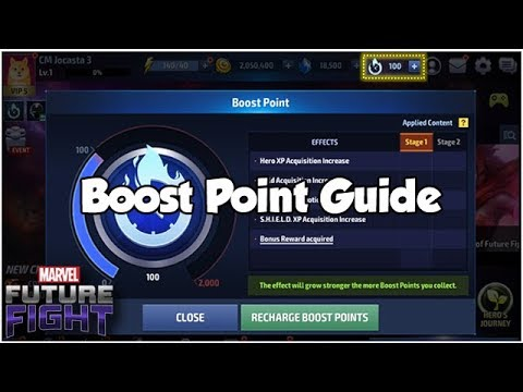 Boost Point Guide - Marvel Future Fight