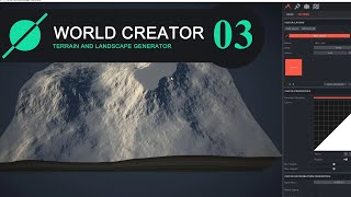 World Creator 2. Seamless. Fractal Noise. Edit Curve. Filters and Toggle Heatmaps option.