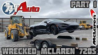 Rebuilding a Wrecked 2018 Mcląren 720s
