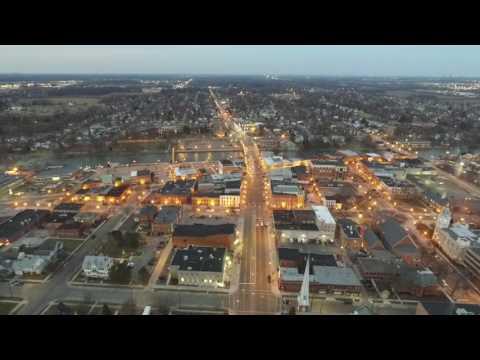 monroe michigan downtown drone