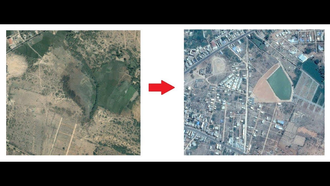 google earth  visualize land encroachments using google historical imagery. google earth  visualize land encroachments using google