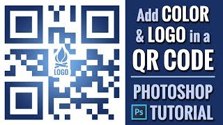 How to Add a Logo on a QR Code in Photoshop