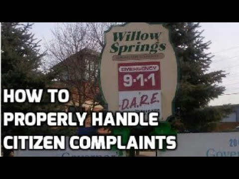 A guide to handling citizen complaints - Willow Springs IL