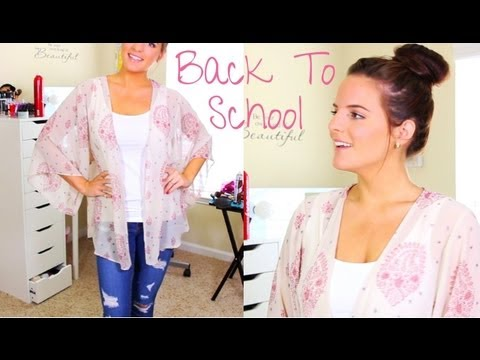Back to School: Running Late? | Quick Hair, Makeup, & Outfit | Under 15 minutes | Casey Holmes