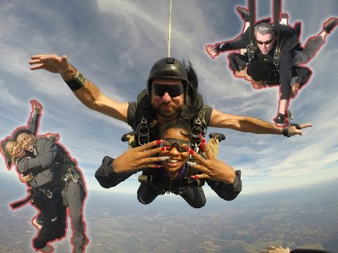 THE CRAZIEST THING WE HAVE EVER DONE!! (JUMPING OUT OF A PLANE)