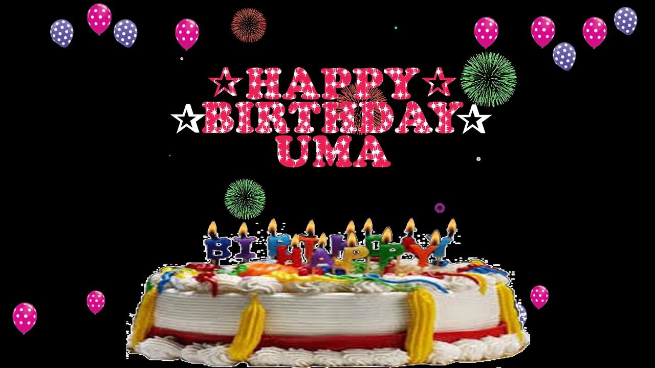Uma Happy Birthday To You