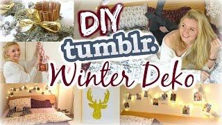 DIY TUMBLR INSPIRIERTE WINTER-/WEIHNACHTSDEKO - IDEEN für's Zimmer! mit Julia Beautx