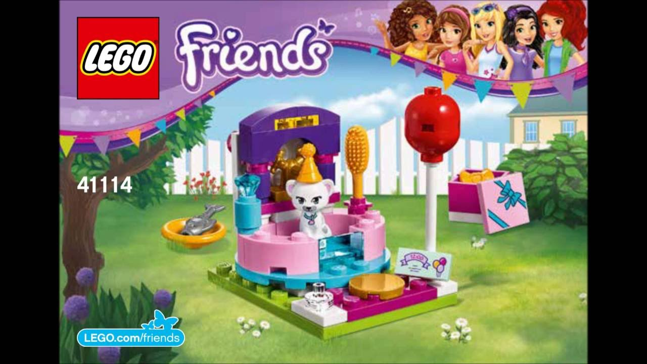 Lego Friends 41114 Party Styling Building Instructions Youtube