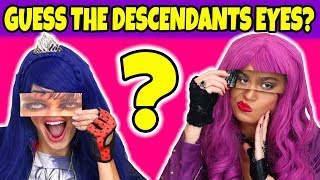 Guess the Descendants Eyes with Mal and Evie Are they Real or Fake 2018
