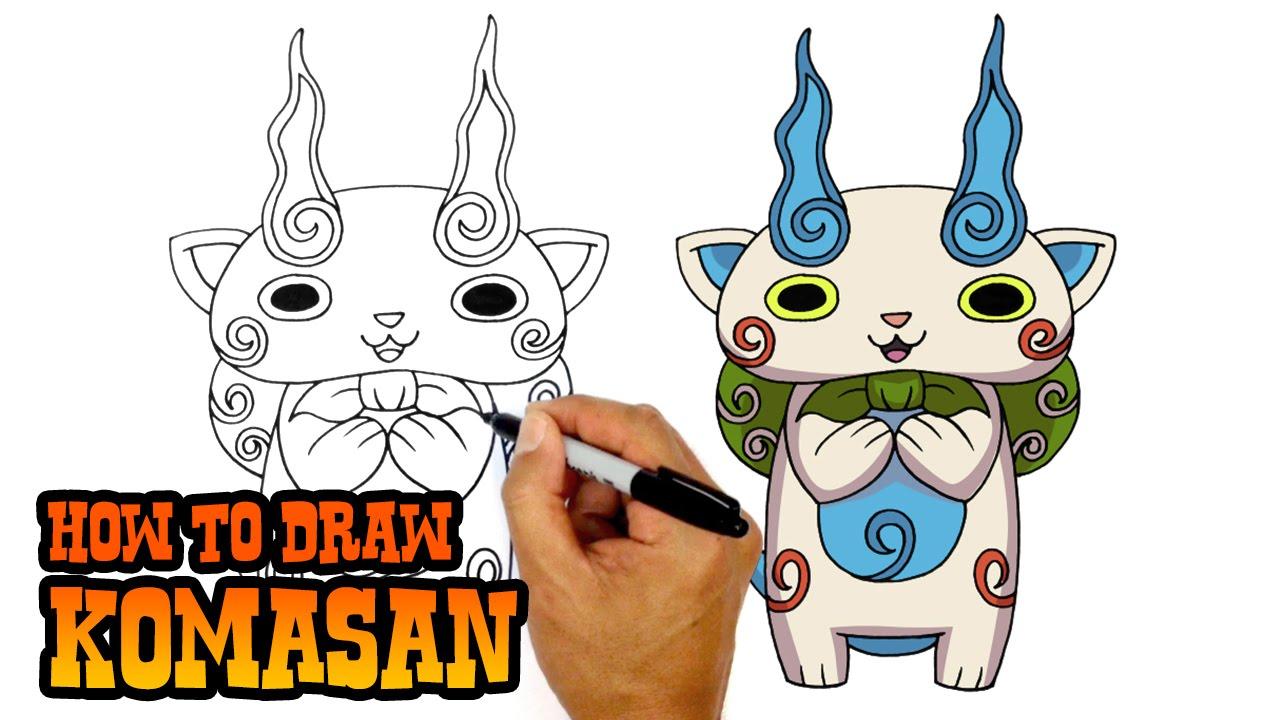 How To Draw Komasan Yo Kai Watch Youtube