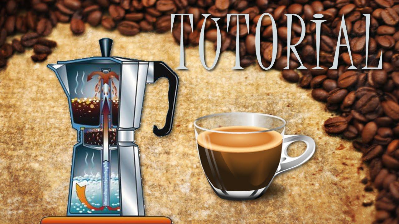 Preparar caf en cafetera italiana youtube for Como montar una cafeteria