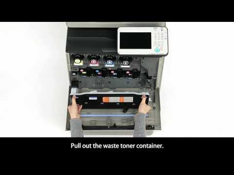 Canon iR-ADV C250i/C350i: Waste Toner Container Replacement
