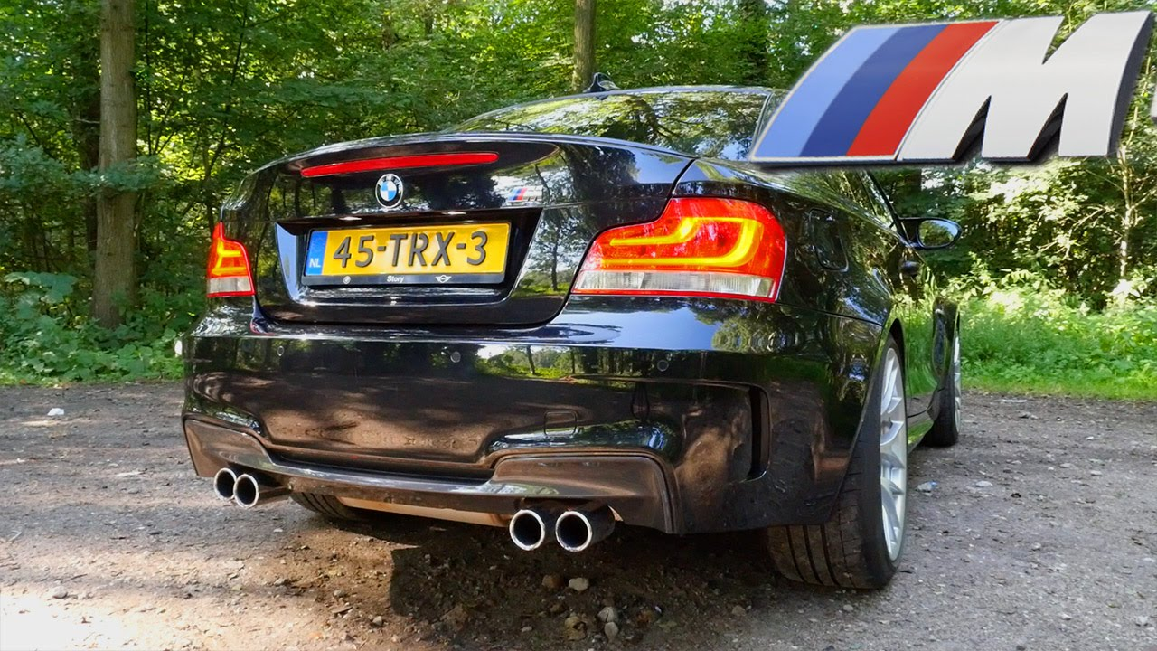 bmw 1m coupe stock exhaust sound loud startup revs