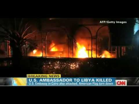 US embassy under attack in Egypt and Libya! Live pictures.