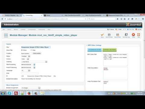 Responsive Simple HTML5 Video Player Joomla Module