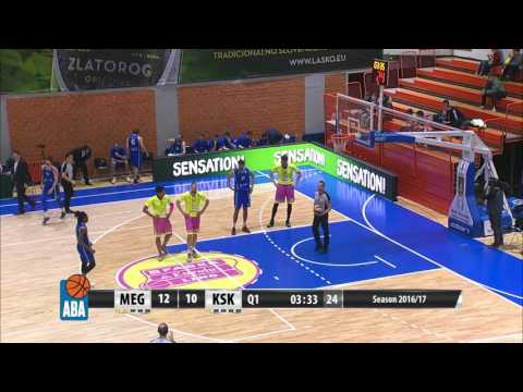 ABA Liga 2016/17, Round 26 match: Mega Leks - Karpoš Sokoli (10.3.2017)
