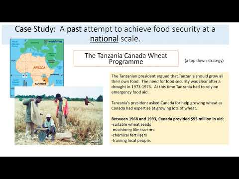 Resource Reliance: Case studies of attempts to achieve food security in Tanzania
