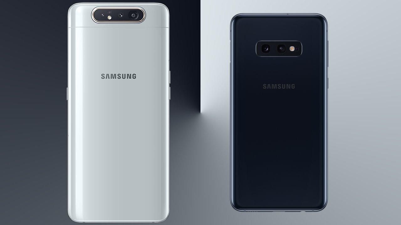 Samsung Galaxy A80 vs Galaxy S10e Comparison