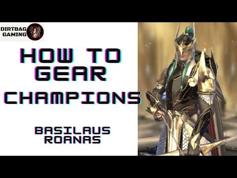 HOW TO GEAR Basileus Roanas   Love This Guy!   Raid Shadow Legends Gear Guide