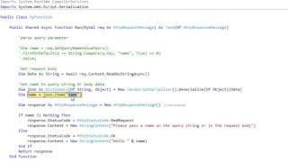 Azure Function VB.NET Edit and Continue