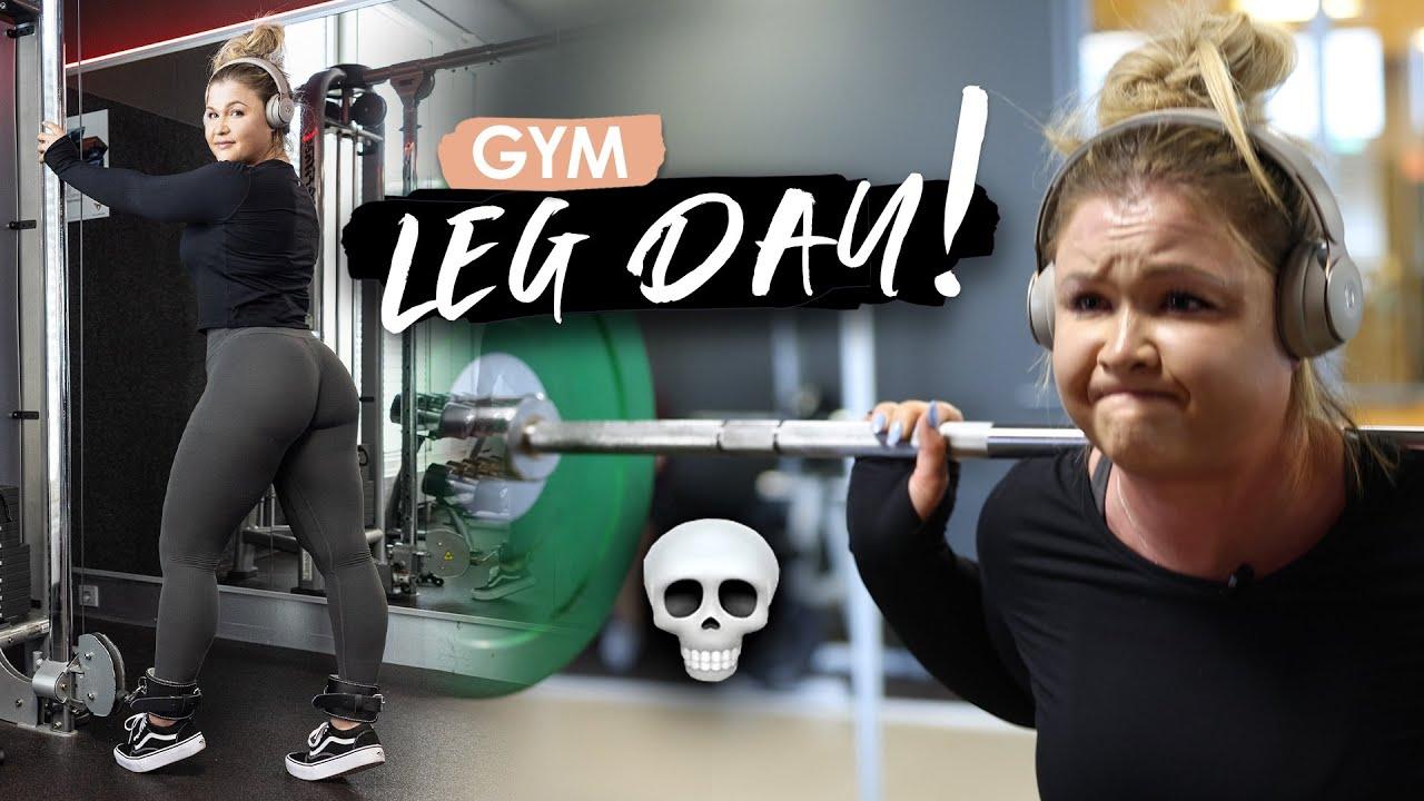 INTENSIVES BEINE/PO GYM WORKOUT für Muskelaufbau | Sophia Thiel