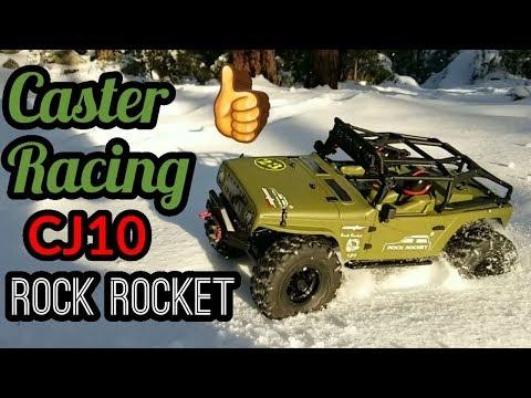 Caster Racing CJ10 Rock Rocket RTR Rock Crawler Quick Look And Run.