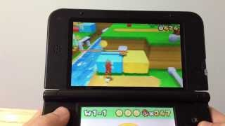 Super Mario 3D Land Gameplay on 3DS XL 1080p HD