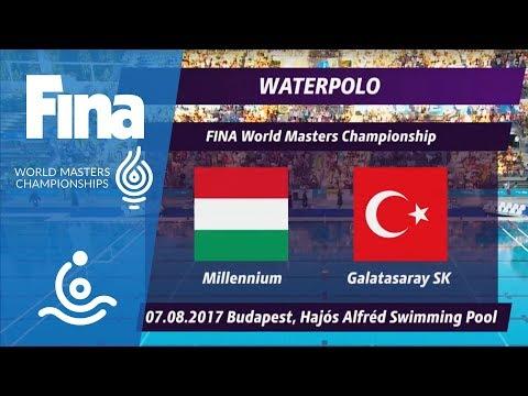 RE-LIVE - Water Polo Day 1: Millenium HUN (40+) - Galatasaray Spor Klubu   FINA Masters '17 Budapest
