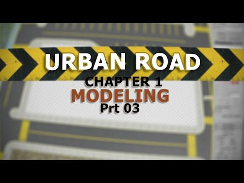 3ds max How to model street/road for animation and achviz -3/3