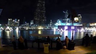 Dubai Mall water fountain show 2016