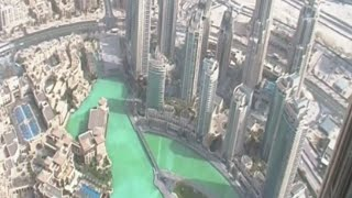 View From The 124th Floor Of The Burj Khalifa In Dubai