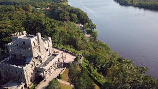 Hadlyme Chester Ferry Connecticut River Gillette Castle drone footage