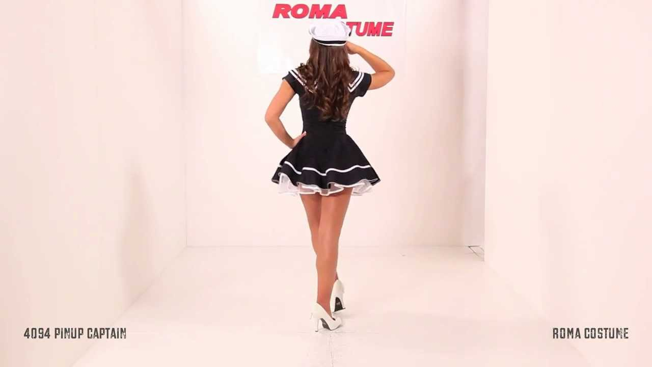 Pin-Up Captain Sailor Costume & Pin-Up Captain Sailor Costume - YouTube