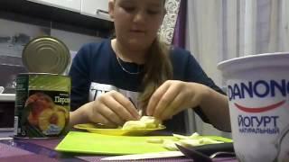 Яичница с картофелем фри