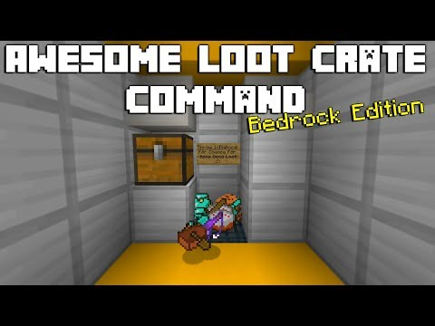 Minecraft: Awesome Loot Crate Command(Bedrock Edition)