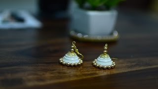 Simple and elegant quilling earring designs