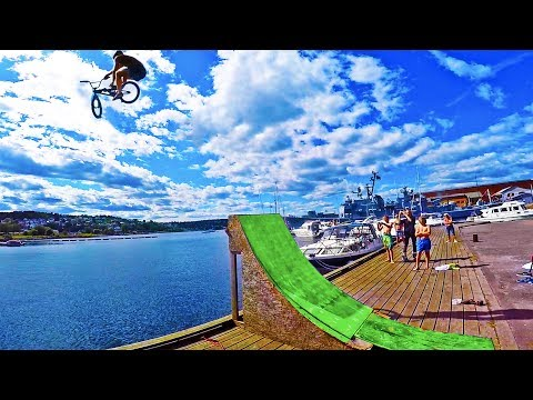 INSANE BMX WATER JUMP!