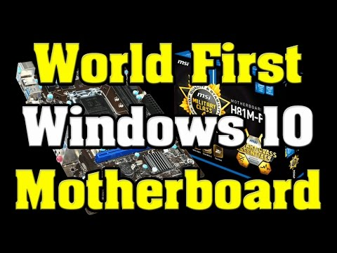 World First Windows 10 Certified Motherboard MSI H81M-P33