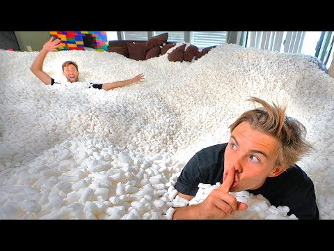 HIDE AND SEEK IN 10,000,000 PACKING PEANUTS! *impossible to find*