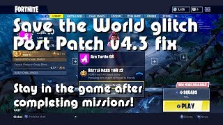 (v4.4 patched) Fortnite Save the World post v4.3 glitch | Game quits after mission FIX [Xbox One]