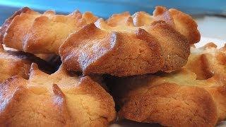 Печенье песочно-сливочное . Очень вкусно!(Сайт проекта:http://www.videocooking.ru Приготовлено по рецепту из книги