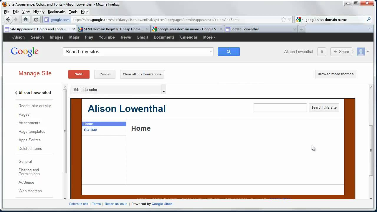 Create a Personal Website with Google Sites in Minutes - YouTube