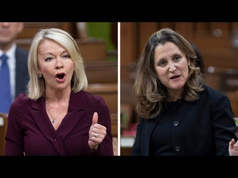 Freeland, Bergen face off over Canada's vaccination rollout