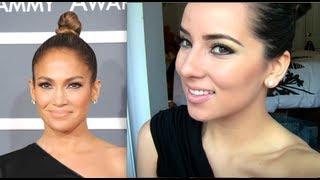 Jennifer Lopez Grammy Awards 2013 Makeup Tutorial !