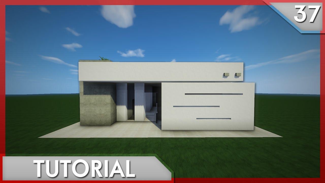 Minecraft como hacer una hermosa casa moderna tutorial for Eumaster casa moderna 8x8